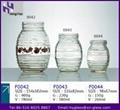 Glass honey jar glass jam jar