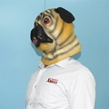 Animal pug dog latex face mask for halloween party costumes 2