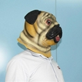Animal pug dog latex face mask for halloween party costumes 3