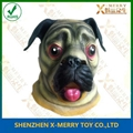 Animal pug dog latex face mask for halloween party costumes 1