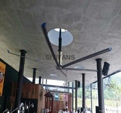12ft Size 6pcs Blade Ceiling Installation Electrical Garage Industrial Large Fan