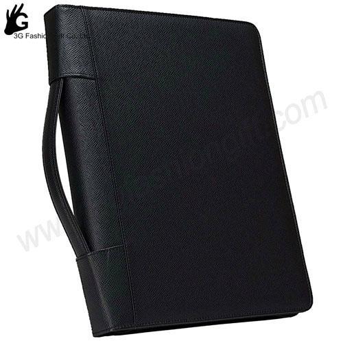 Zipper Leather Binder with calculator portfolio ring binder 1
