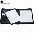 Zipper Leather Binder with calculator portfolio ring binder 2