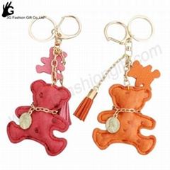 handbag keychain Brand bag charm brand leather bear keychain keyring