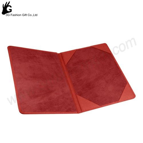 Cheap A4 file Paper Certificate Holders with leather cover 2