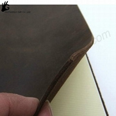 vintage leather blocks notebook