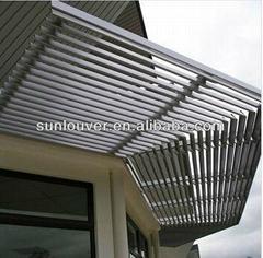 Aluminum solar shading/window louver for building