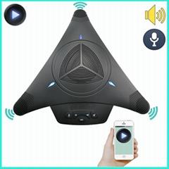 USB會議電話全向麥克風視頻會議音頻設備擴音器