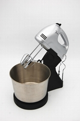 7 speeds stainless steel egg beater food mixer with bowl