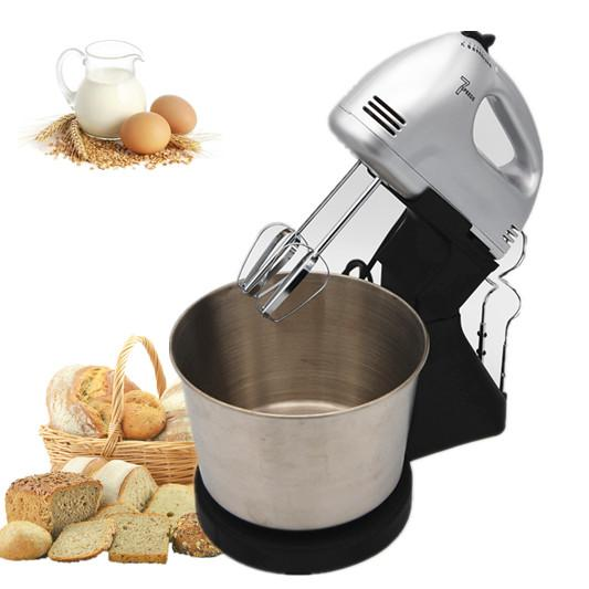 7 speeds stainless steel egg beater food mixer with bowl 1