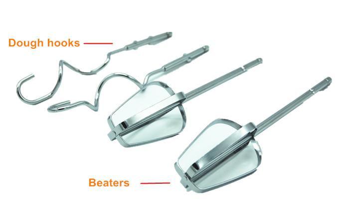 7 speeds stainless steel egg beater food mixer with bowl 2