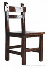碳化木餐椅