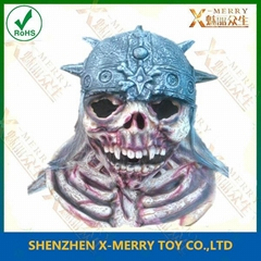 skeleton soldier halloween latex mask scary cosplay