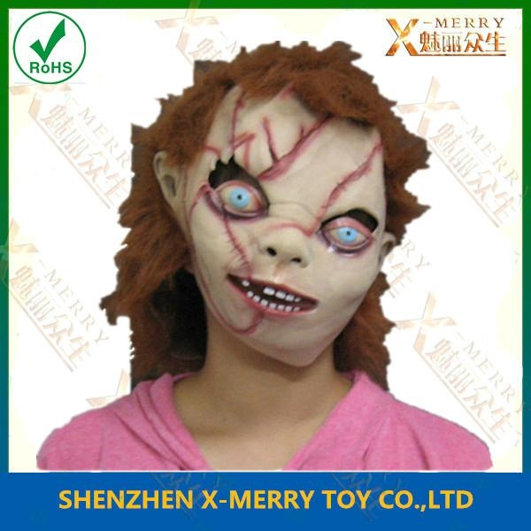 chucky mask chainsaw horror classic halloween mask   1