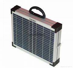 20W folding solar suitcase for TV mobile Light Air Fan TV Computer