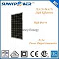 A grade 190W mono solar cell dongguan