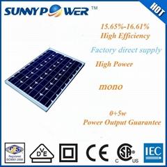 65w mono pv solar module with ISO CE IEC