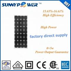 A grade 120w mono solar panel taiwan