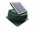 15W adjustable solar attic fan solar fan roof fan with rechargeable battery  1