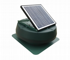 15W adjustable solar attic fan solar fan roof fan with rechargeable battery