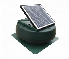 15W adjustable solar attic fan solar fan roof fan with rechargeable battery