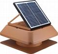 15W adjustable solar attic fan solar fan roof fan with rechargeable battery  2