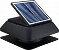 15W adjustable solar attic fan solar fan roof fan with rechargeable battery  3