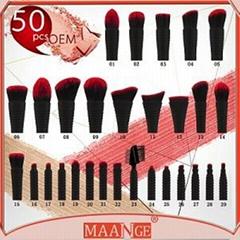 50pcs OEM MAANGE plastic handle angled kabuki eyebrow brushes/angled brow brush