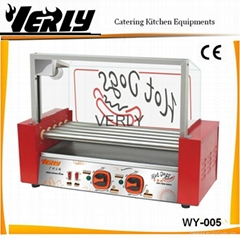 CE certificate 5 rollers Hot dog Grill