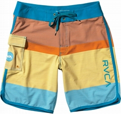 Colorful design boardshorts, well-received in Europe, North America