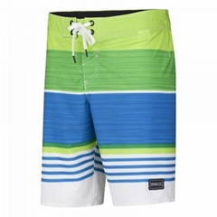 Fashionable boardshorts with striated colors, for men, 2015