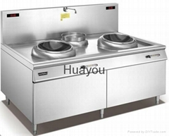 Commercial Induction Cooker-Double-head and Single-stock Pot