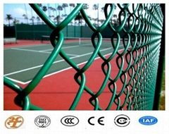 Haotian High Quality PVC Coated Chain Link Fence Hot Sale