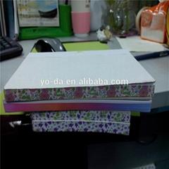 Diaries note edge printe