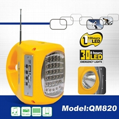SOLAR JACK WITH RADIO & MP3 & MOBILE CHARGE