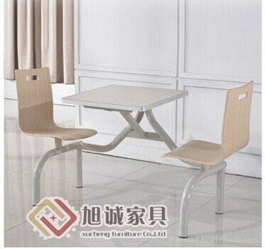 曲木快餐桌椅批發 1