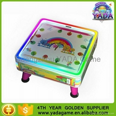 Coin operated colorful forest air hockey table game machine