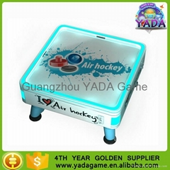 Pure white mini cube air hockey game table for children