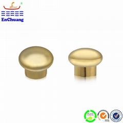 Custom polished golden plated cap for perfume bottle