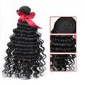 EVET Malaysian Kinky Curly Virgin Hair 3 Bundles Human Hair Natural Color Malays 1