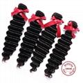 EVET Unprocessed Malaysian Human Hair Weaving Bundles Deep Wave Malaysian Human  4