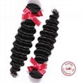 EVET Unprocessed Malaysian Human Hair Weaving Bundles Deep Wave Malaysian Human  3
