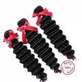 EVET Unprocessed Malaysian Human Hair Weaving Bundles Deep Wave Malaysian Human  2