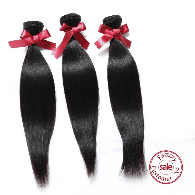 EVET Virgin Straight Hair Malaysian Weaves Bundles  Straight Malay 2