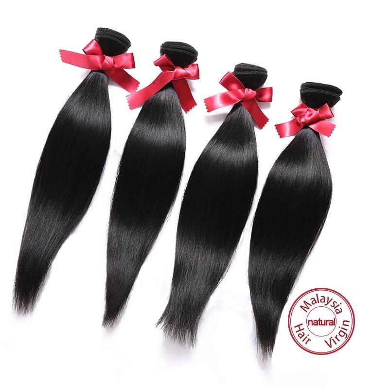 EVET Virgin Straight Hair Malaysian Weaves Bundles  Straight Malay 3