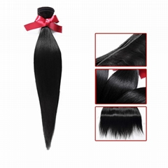 EVET Virgin Straight Hair Malaysian Weaves Bundles  Straight Malay