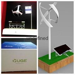 Uge Vertical Windmill with Solar Rack wind turbine model