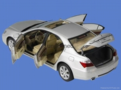 Diecast Model Car vehicle models silver zinc alloy car