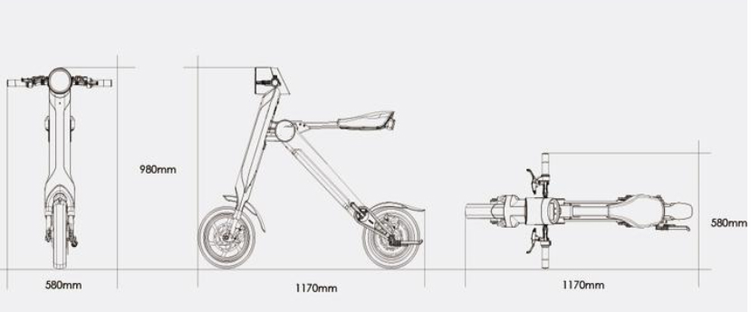 Chinese Foldable Electric Scooter Electric folding bike K1 18kg as a good gift 1