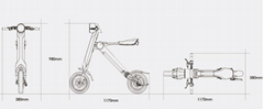 Chinese Foldable Electric Scooter Electric folding bike K1 18kg as a good gift